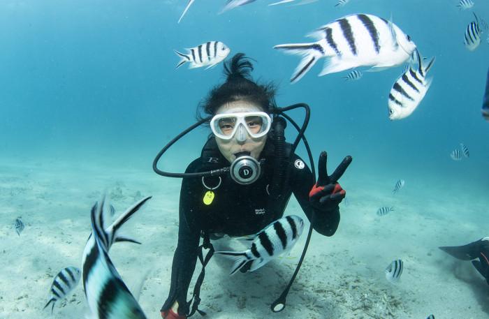 体験ダイビング13